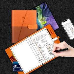 INFINITY Leather Reusable Smart Notebook Tablet (Without Power Bank)