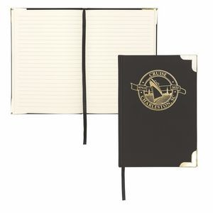 Samsill Classic Hardcover Lined Notebook Journal with Gold Corners
